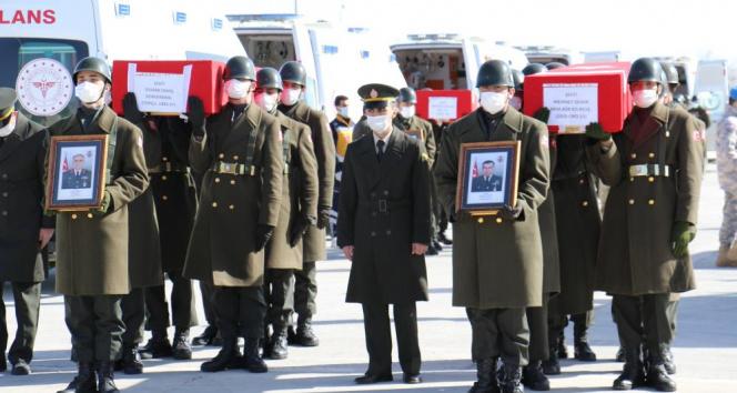 11 şehidimiz Elazığdan törenle Ankaraya uğurlandı