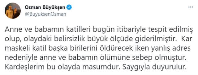 Sır cinayet çözüldü, kardeşlerin masum olduğu ortaya çıktı! Osman Büyükşen'den dikkat çeken paylaşım