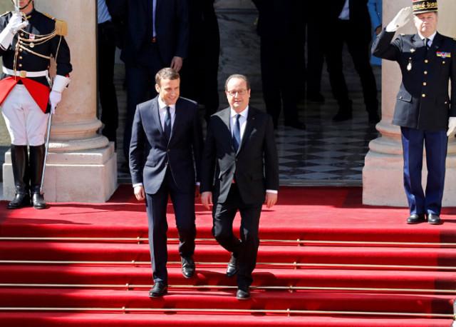 Fransa'nın en genç cumhurbaşkanı göreve başladı..!