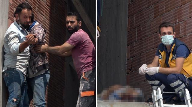 11 kattan düşen adam hayatını kaybetti! Oğlu babasının başında gözyaşlarına boğuldu