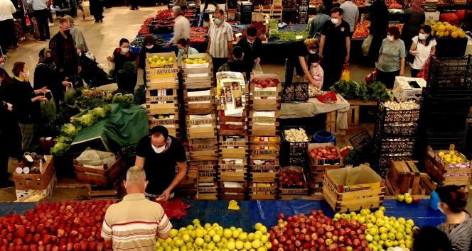 8 gün sonra pazarlar açıldı vatandaşlar akın etti