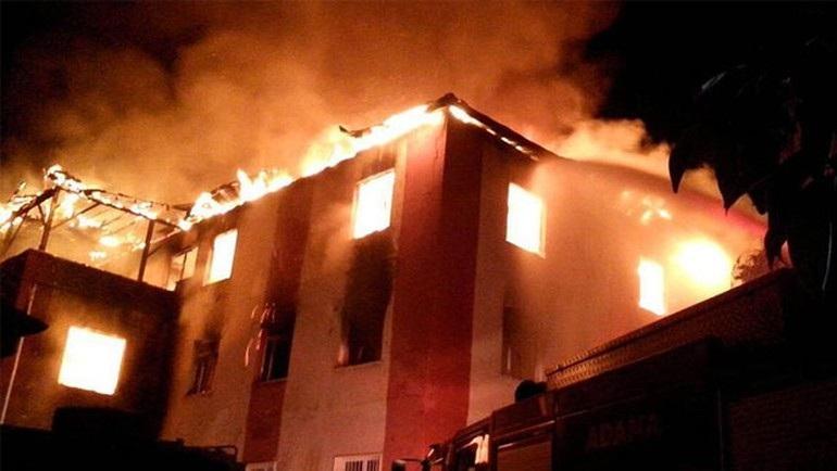Adana'da kız öğrenci yurdunda yangın: 12 ölü 24 yaralı!