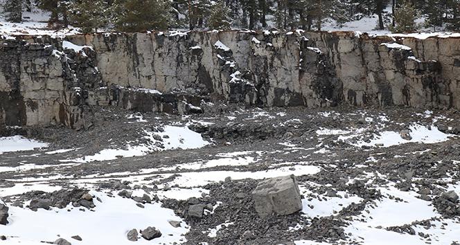 Bolu'da, milyonlarca yıl öncesine ait lav gölü kalıntıları bulundu