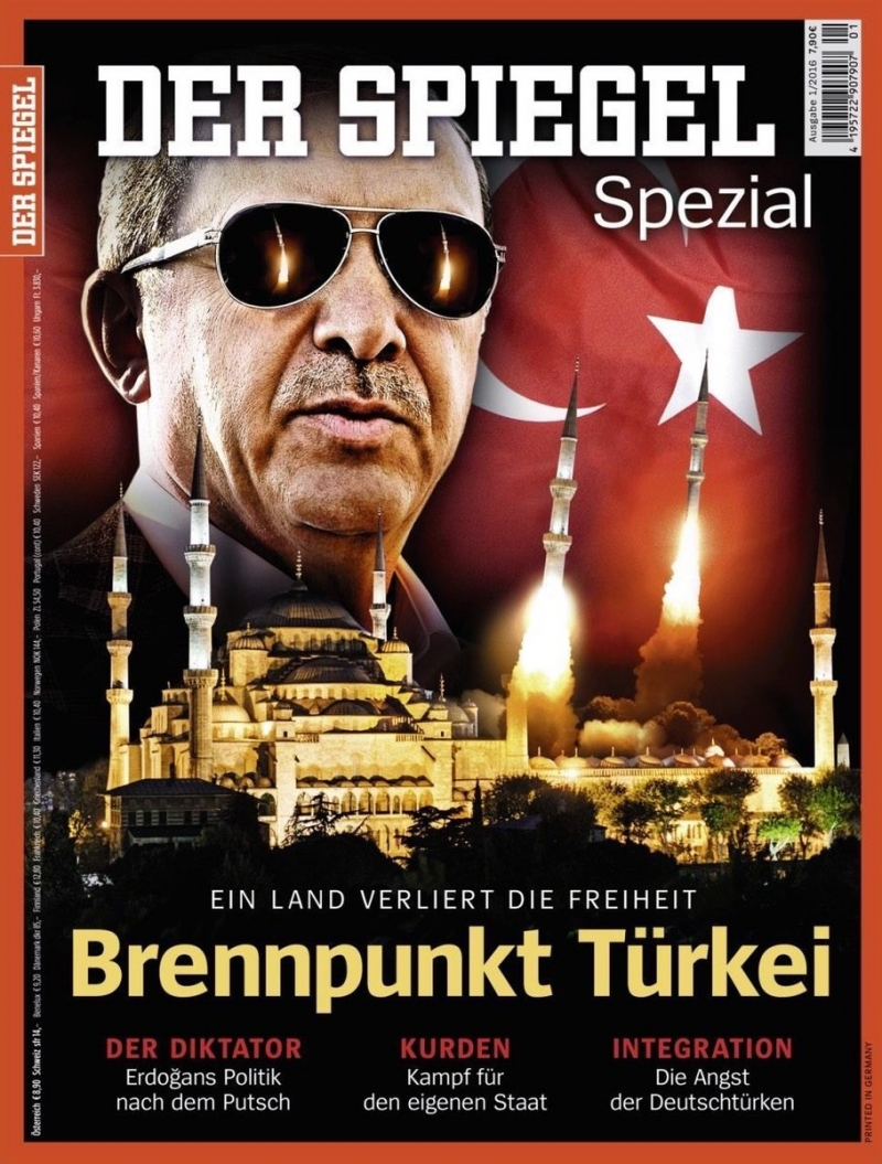 Der Spiegel tepkisi: 'Tahrik edici'