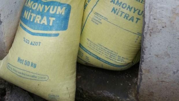 Diyarbakır'da 157 ton amonyum nitrat ele geçirildi