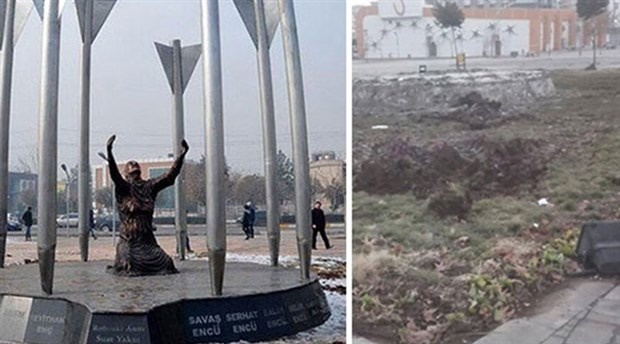 Diyarbakır'dan Roboski anıtını kaldırdılar!