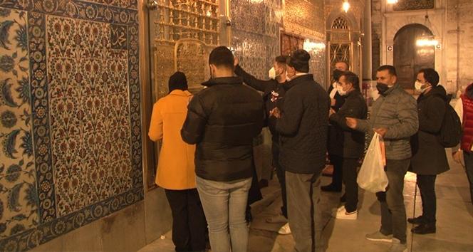 Eyüpsultan Camii, Miraç Kandili'nde kısıtlamaya rağmen boş kalmadı
