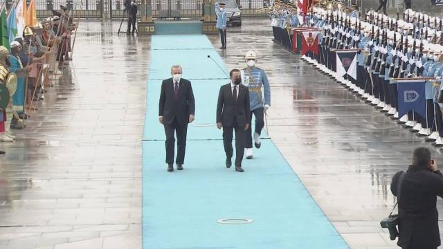 Gürcistan Başbakanı Ankara'da Karşılandı