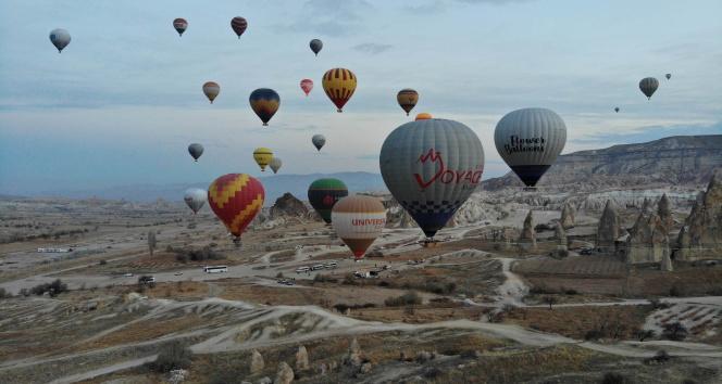 Kapadokya'da balon turları iptal edildi!