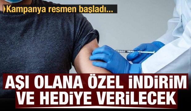 Koronavirüs aşısını olanlara kampanya: Özel indirim, tablet ve bisiklet hediye