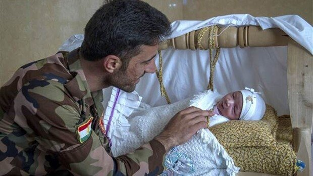 Kürt peşmerge oğluna Trump ismini verdi