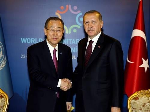 Erdoğan ve Ban Ki-mun görüşmesi 40 dakika sürdü!