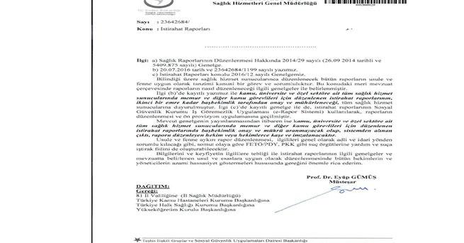 Sağlık Bakanlığı uyardı: 'PKK ve FETÖ/PDY örgütüne yardım ve suça iştirak' olabilir