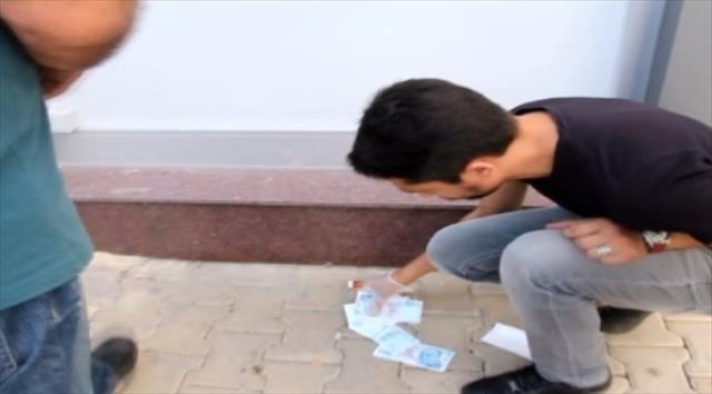 Sakarya'da ATM'nin çöpünden 100 TL'lik banknotlar çıktı!