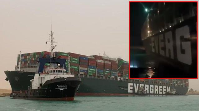 Süveyş Kanalı'nı Tıkayan Geminin Yürütülme Videosu Yayınlandı