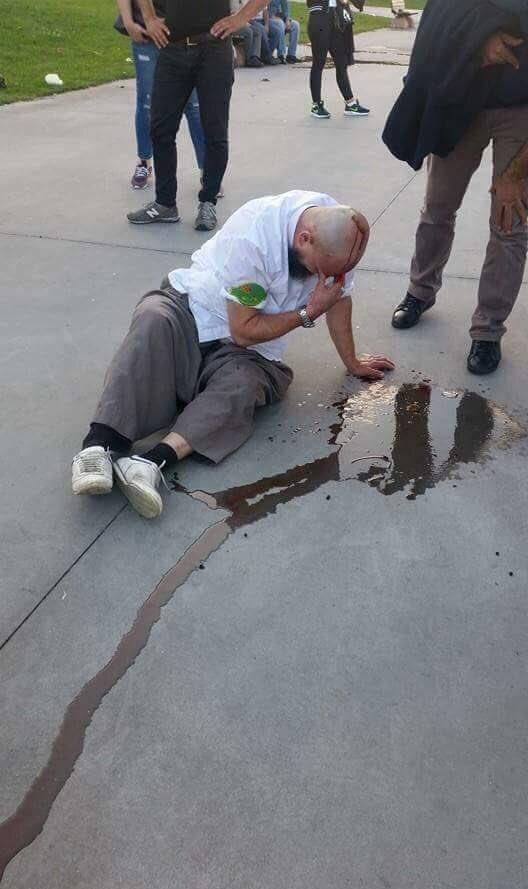 Zabıta Gazi Tatlıcıyı dövdü sosyal medya ayağa kalktı