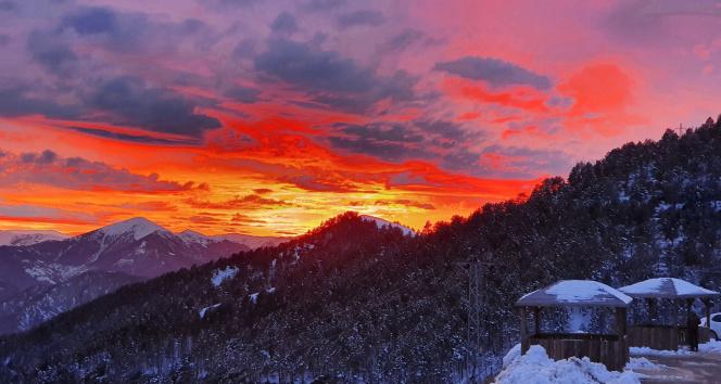 Zigana Dağında muhteşem günbatımı manzarası görenleri mest etti