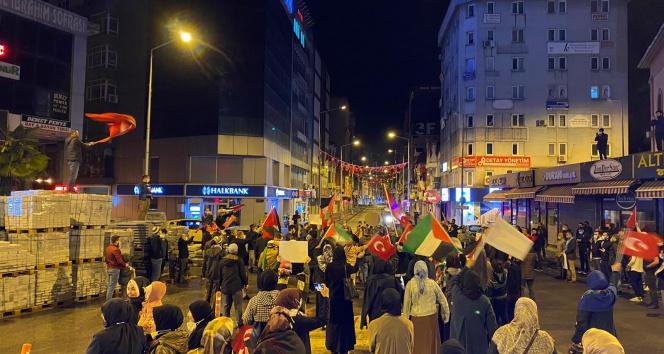Zonguldak'ta İsrail'e tepki gösterisi