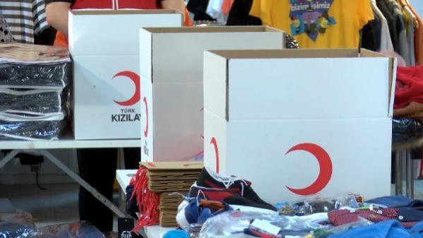 Kızılay, bayramda 410 bin çocuğa dağıtılmak üzere yardım kolisi hazırladı