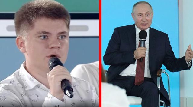 Rusya'nın gündeminde bu çocuk var! Putin'in hatasını hiç çekinmeden düzeltti