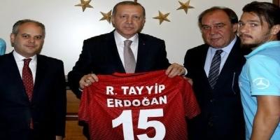 A Milliler Erdoğan'ı ziyaret etti