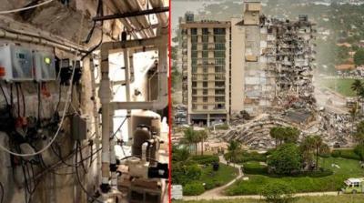 ABD'deki felaket göz göre göre gelmiş! Çöken 12 katlı binanın çatlaklarını 36 saat önce fotoğraflayarak yetkililere bildirmiş
