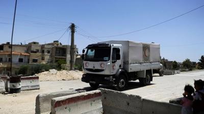 Şam'a Kızıl Haç'tan yardım