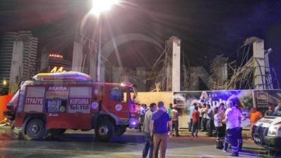 Adana'da inşaat çöktü: 7 yaralı