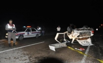 Aksaray'da takla atan otomobil sürücüsü öldü