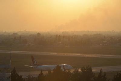 Anız dumanları hava trafiğine neden oldu