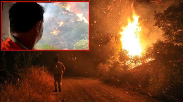Bodrum Belediye Başkanı Aras, yangını canlı yayınladı: Artık ne yapacağımızı şaşırdık