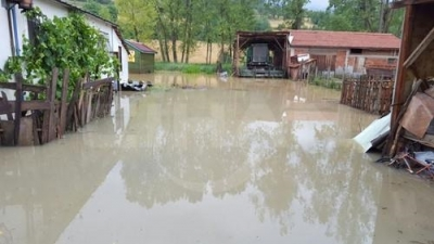 Bolu'da şiddetli yağmur sele sebep oldu