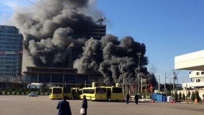 Bursa'da şantiyede yangın:1 ölü 2 yaralı