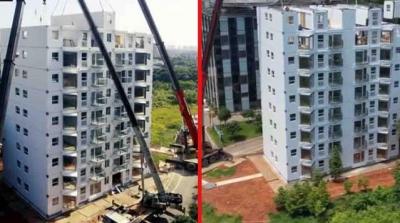 Çin'de Bir Firma, 28 Saatte 10 Katlı Bir Bina Dikti