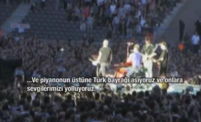Coldplay Türkiye için söyledi