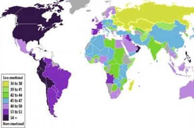 Dünya'nın en duygusal ülkesi Amerika