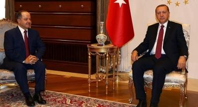 Erdoğan-Barzani görüşmesi gerçekleşti