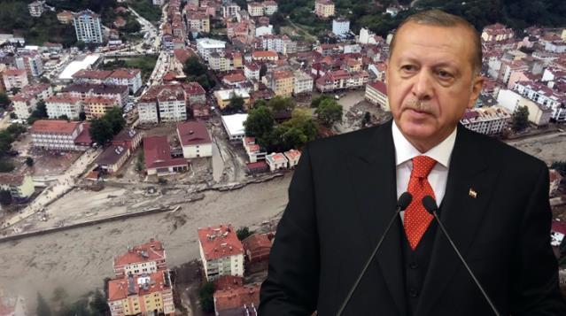 Erdoğan, selin vurduğu Kastamonu Bozkurt'a gidiyor