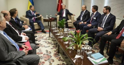 Erdoğan, Ukrayna Lideri Poroşenko ile bir araya geldi!