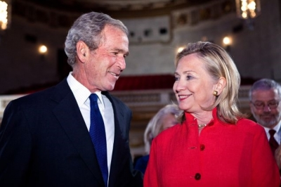 George Bush'un oyu Hillary Clinton'a!