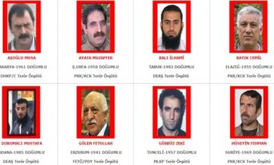 Güncel terör listesi yayınlandı