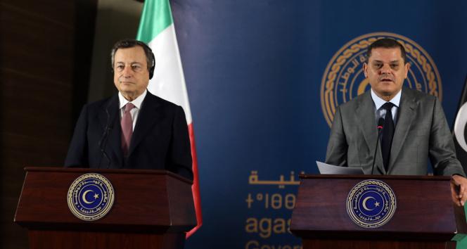 İtalya Başbakanı Mario Draghi, Libya Ulusal Birlik Hükümeti Başbakanı Dibeybe ile görüştü