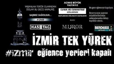 İzmirli işletmecilerden şehitlere saygı duruşu: Eğlence mekânları kepenk kapattı