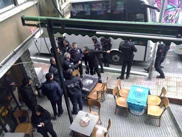 26A Kolektif Cafe 'ye polis ablukası