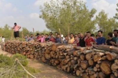 Kılıçlı Köyü sakinleri mesire alanı nöbetinde