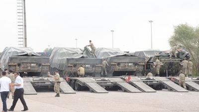 Cerablus'a tank takviyesi