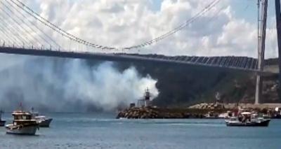 Köprüde yangın paniği!