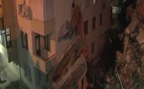 Maltepe'de bir binanın yıkım çalışmasında kaza meydana geldi