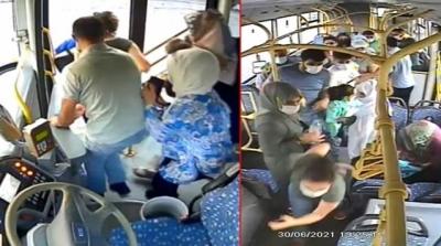Motoru alevler sardı, 45 yolcu şoförün dikkati sayesinde kurtuldu! Seyir halindeki otobüste panik anları