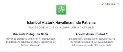 Patlama sonrası Facebook'tan güvenlik kontrolü